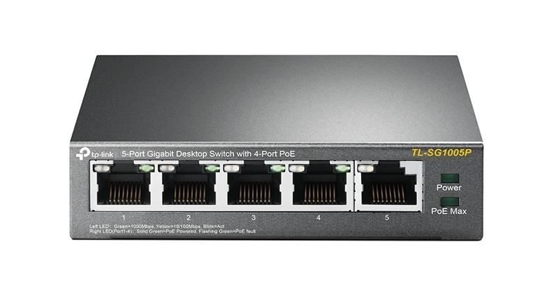 TP-LINK TL-SG1005P network switch Unmanaged Gigabit Ethernet (10/100/1000) Black Power over Ethernet (PoE)