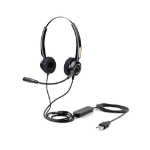 Urban Factory USB HEADSET WITH REMOTE CONTROL Head-band USB Type-A Black HBV01UF