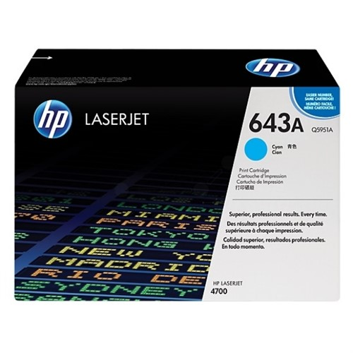 HP Toner Cartridge Cyan 10K For Clr Laserjet 4700 - Q5951A