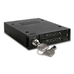 """Miscellaneous ToughArmour ICY DOCK MB992SK-B Dual Bay 2.5"""" SAS/SATA SSD & HDD Mobile Rack for 3.5"""" Device Bay"""