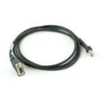Zebra CBA-R23-S07ZBR cable de serie Negro 2,13 m