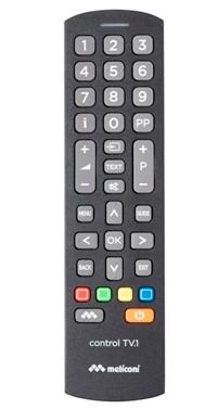 Meliconi Control TV.1 mando a distancia IR inalámbrico Botones