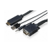 Sony CAB-VGAHDMI1 adaptador de cable VGA/3.5 mm HDMI Negro