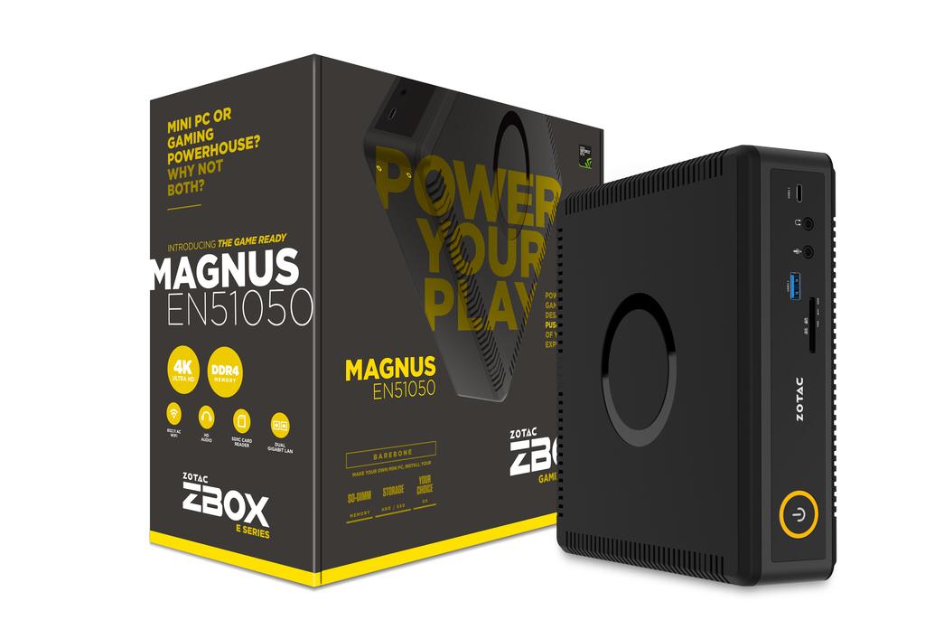 Zotac ZBOX MAGNUS EN51050 i5-7500T 2.6L sized PC Black