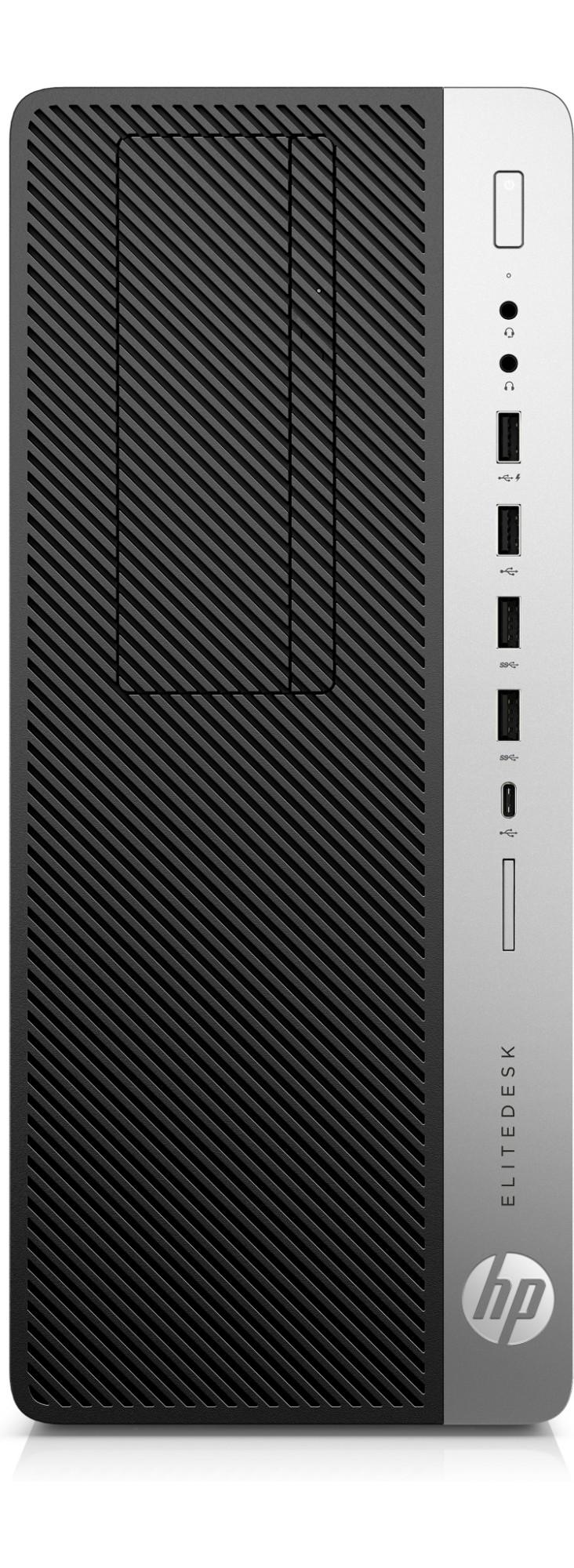 HP EliteDesk 800 G3 3.6GHz i7-7700 Tower Black, Silver PC