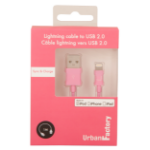 Urban Factory Cable USB to Lightning MFI certified - Pink 1m (retail packaging) CID32UF