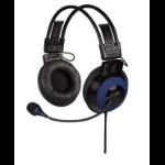 Hama uRage Vibra Binaural Head-band Black,Blue headset