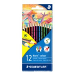 Staedtler Noris colour 185 Black, Blue, Brown, Green, Light Blue, Light Green, Magenta, Orange, Peach, Red, Violet, Yellow 12pc(s) colour pencil