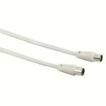 Hama 5m, 2xCoax coaxial cable Coax White