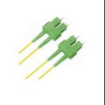 Microconnect 10m SC/APC-SC/APC fibre optic cable SC/APC OS2 Yellow