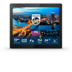 "Philips B Line 172B1TFL/00 touch screen monitor 43.2 cm (17"") 1280 x 1024 pixels Multi-touch Black"