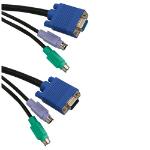 ICIDU KVM Switch Cable 1,8m 1.8m Black KVM cable