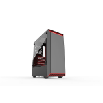 Phanteks Eclipse P300 Tempered Glass Midi Tower Black, Red