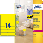 Avery High Visibility Neon Labels, Yellow