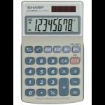 Sharp EL-240SA calculator Pocket Basic Blue, Grey