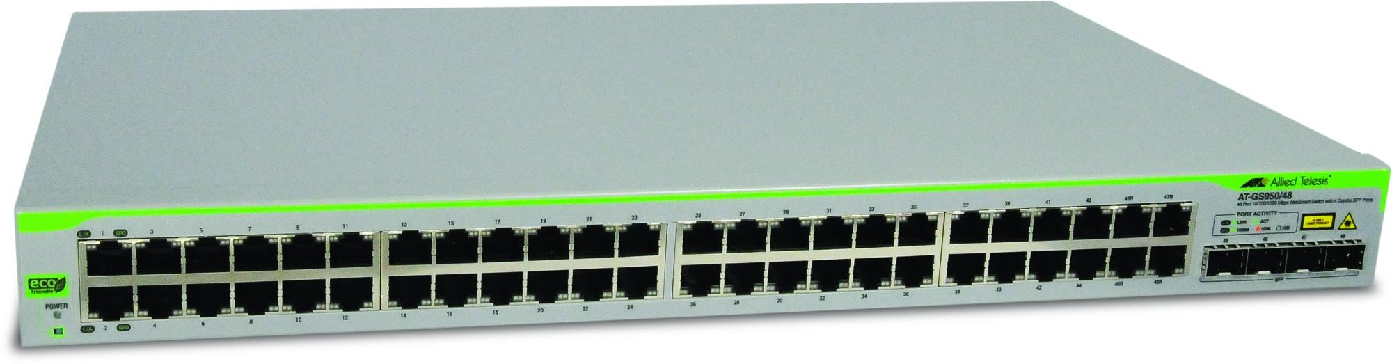 Allied Telesis AT-GS950/48-50 Gestionado L2 Gigabit Ethernet (10/100/1000) Gris 1U