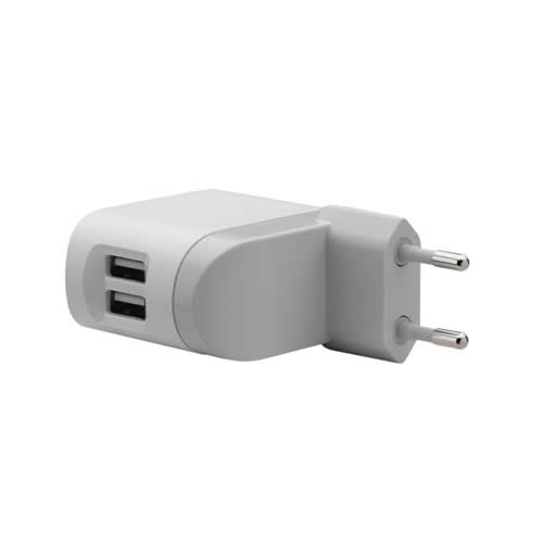 BELKIN LINE-ADAPTER USB DUO W/ CHARG CABLE(EUROPEAN)