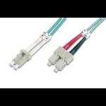 Digitus DK-2532-02/3 fibre optic cable 2 m LC SC OM3 Blue
