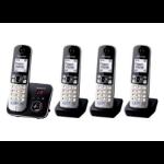 Panasonic KX-TG6824EB DECT Caller ID Black telephone