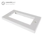 CONNEkT Gear Double Faceplate for RJ45 Modules - 4 Module version 145 x 85mm - White 90-0105