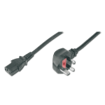 ASSMANN Electronic AK-440112-018-S 1.8m C13 coupler BS 1363 Black power cable