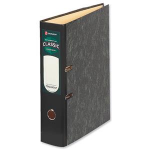 Rexel Classic Foolscap Lever Arch File Black/Green (10)