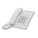 Panasonic KX-TS550MEW Analog telephone Identificador de llamadas Color blanco teléfono