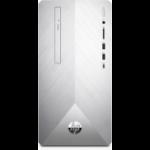 HP Pavilion 590-p0075na 9th gen Intel® Core™ i5 i5-9400F 8 GB DDR4-SDRAM 1128 GB HDD+SSD Silver Mini Tower PC
