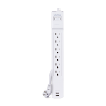 "CyberPower CSP606U42A surge protector 6 AC outlet(s) 125 V White 70.9"" (1.8 m)"