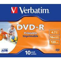 Verbatim 43521 blank DVD 4.7 GB DVD-R 10 pc(s)