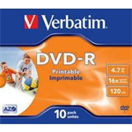 Verbatim DVD-R 4.7GB 16x 10 Pack JC 43521