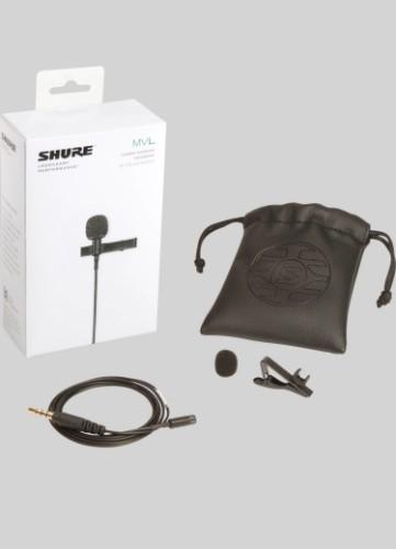 Shure MVL/A microphone Smartphone microphone Black