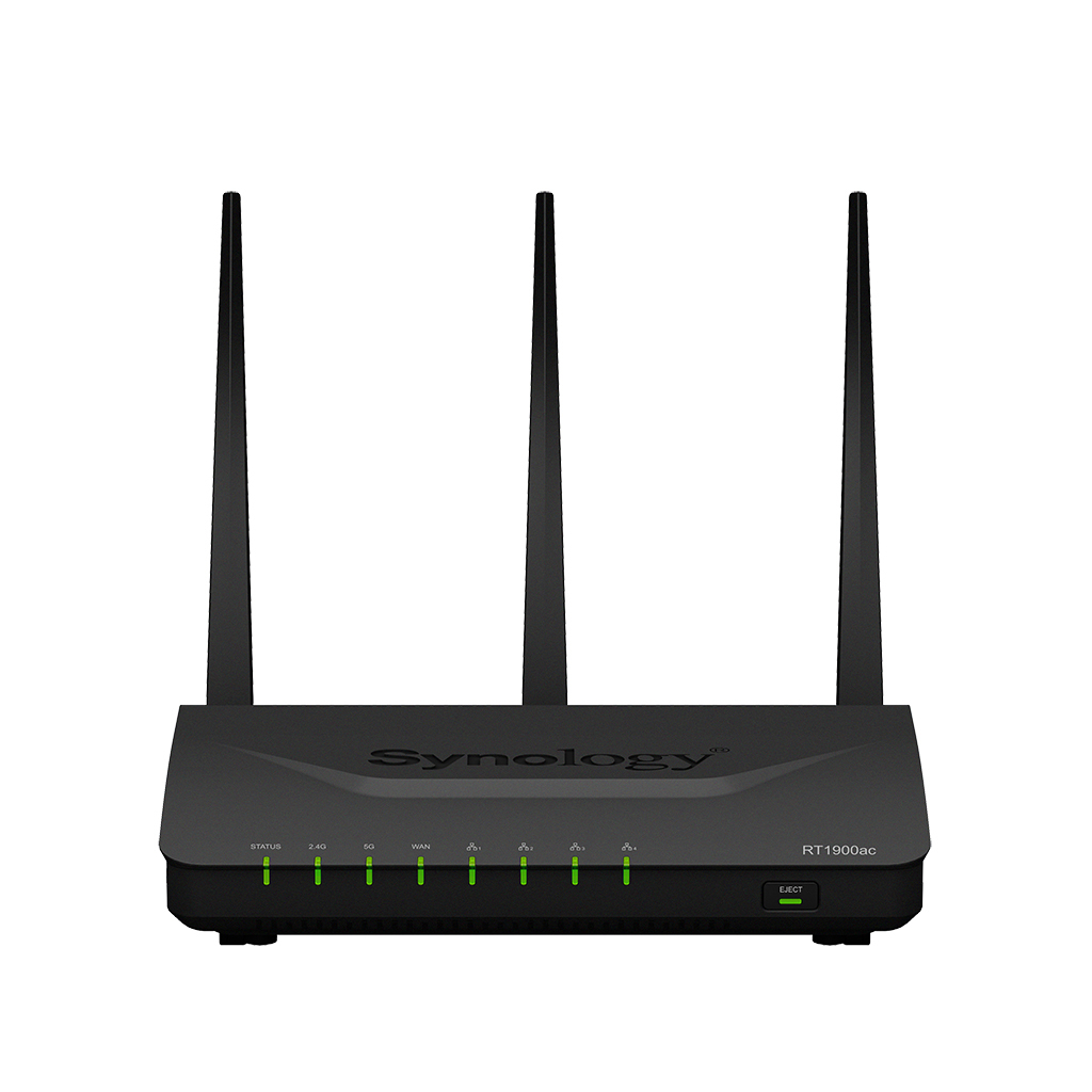 Synology Wi-Fi Router - Black (RT1900AC)