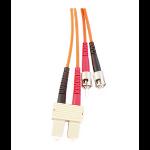 Videk 0.5m OM2 ST/SC fiber optic cable Orange