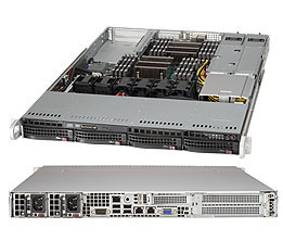 Supermicro SuperServer 6018R-WTR Intel C612 Socket R (LGA 2011) 1U Black