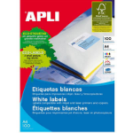 APLI 2423 LABELS A4 2UP ROUND CORNERS 199.6X144.5 100 SHEETS