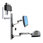 "Ergotron LX Wall Mount System 27"" Black,Silver flat panel wall mount"
