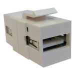 Cablenet USB 2.0 Type A Female - Female Keystone White