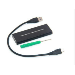 CoreParts MSUB8001 storage drive enclosure SSD enclosure Black M.2