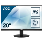"AOC Value-line I2080SW LED display 49.5 cm (19.5"") WXGA+ Flat Black"