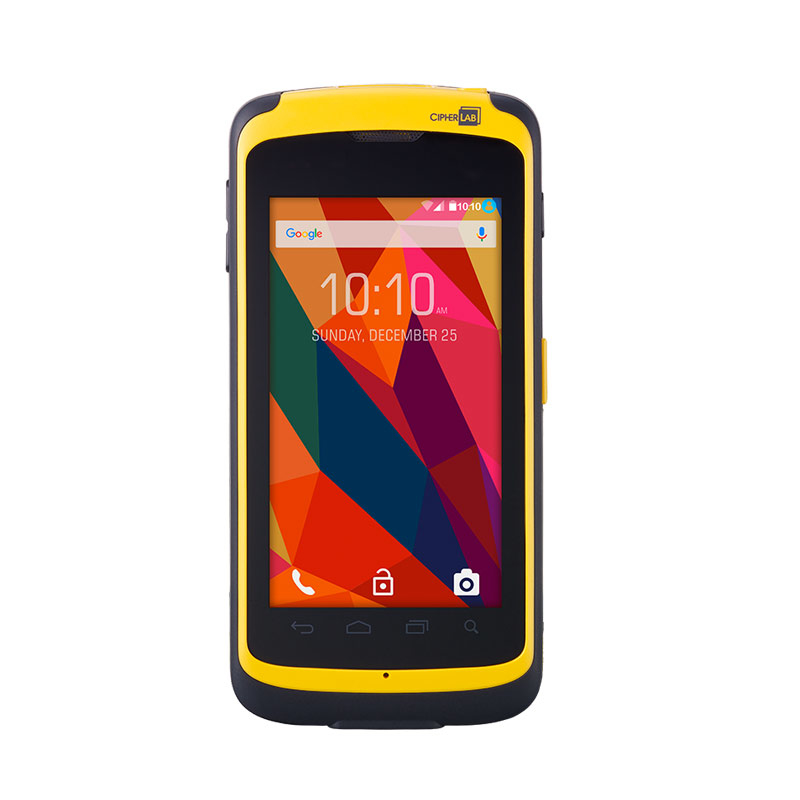 "CipherLab RS50 handheld mobile computer 11.9 cm (4.7"") 1280 x 720 pixels Touchscreen 365 g Black,Yellow"