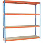 VFM Orange/Zinc 2400x900x2000mm Heavy Duty Painted Shelving Unit