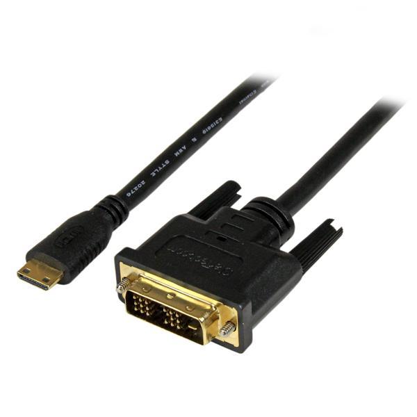 StarTech.com 2 m mini HDMI-naar-DVI-D-kabel M/M