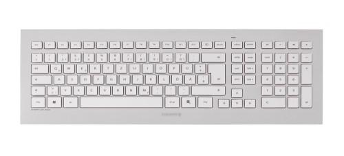 CHERRY DW 8000 keyboard RF Wireless French Silver, White