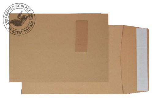 Blake Purely Packaging Gusset Pocket Peel and Seal Manilla C4 324×229×25 130gsm (Pk 125)
