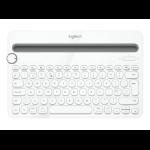 Logitech K480 Bluetooth QWERTY Turkish White mobile device keyboard