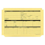 Custom Forms Personnel Pre-Printed Wallet Manilla 330x235mm 270gsm Yellow (Pack 50)