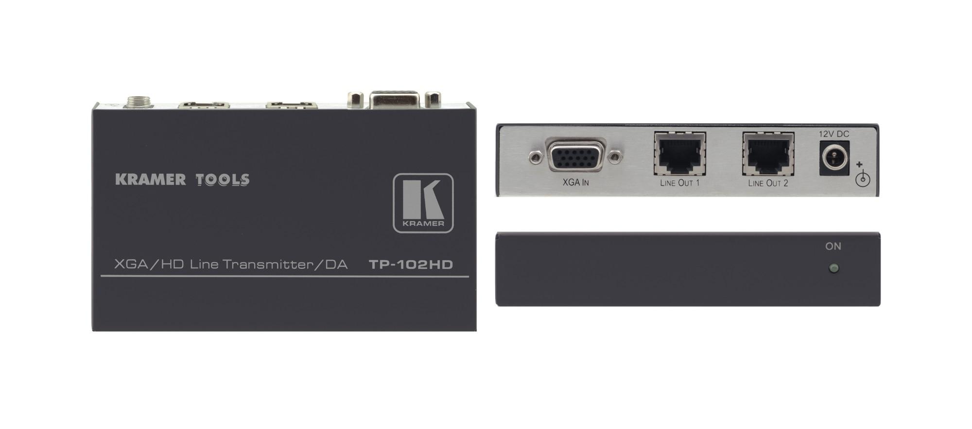 Kramer Electronics TP-102HD AV transmitter Black,White AV extender