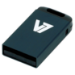 V7 Unidad de memoria flash USB 2.0 nano 32 GB, negra