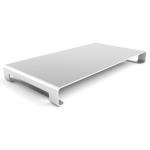 Satechi Slim Monitor Stand Compatible with 27-inch iMac, Desktops, Laptops and Printers Silver